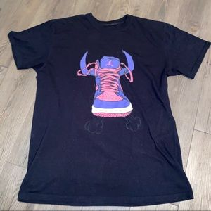 Jordan Bulls Purple Pink & Black T-Shirt